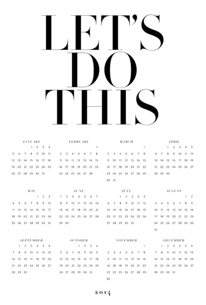 let's do this calendar